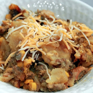 Slow Cooker Hamburger & Potato Casserole.