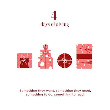 Four Days of Giving - Christmas template