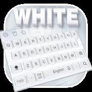 Pure white keyboard