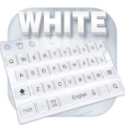 Pure white keyboard