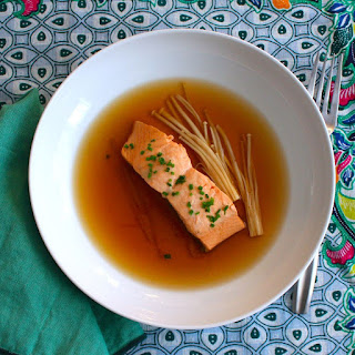 Salmon Poached in Mirin and Soy.