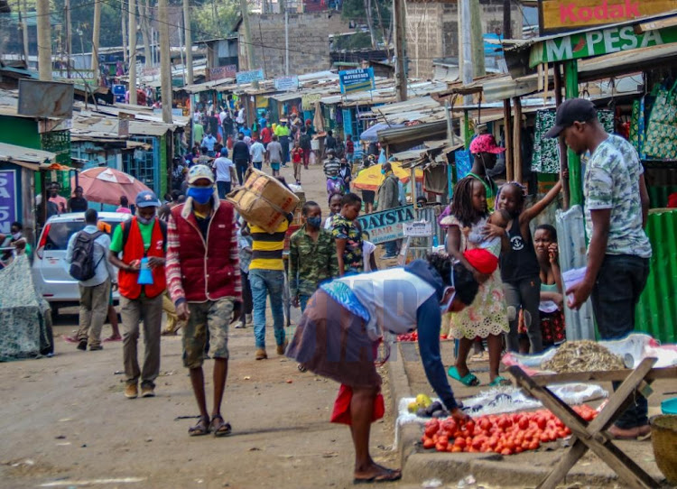 Business as usual in Mathare Area 4 on 26th May 2020.