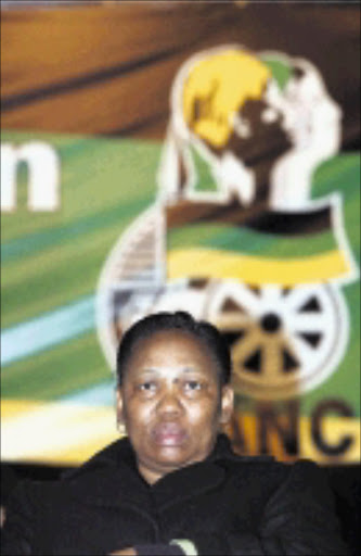 HEAD HONCHO: New ANCWL president Angie Motshekga after she was elected in Bloemfomtein. Pic. Lucky Nxumalo. 13/07/2008. © Sowetan.