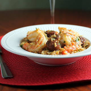 Shrimp, Chicken and Chorizo Jambalaya