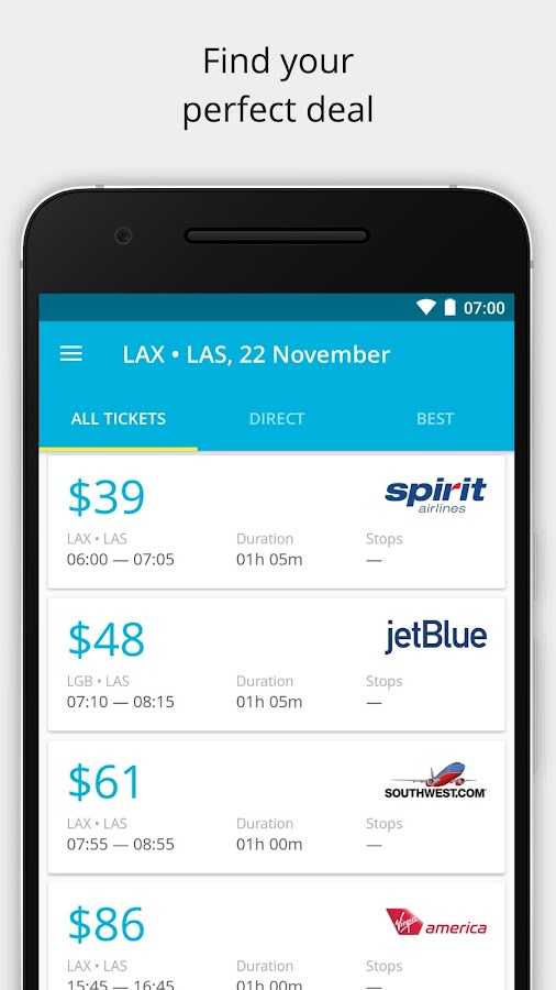 Cheap flights and airline tickets — Jetradar- screenshot