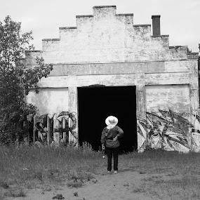 the Old Boathouse by Alison Gimpel - Black & White Buildings & Architecture ( blackandwhite, minnesota, duluth_mn, buildings, landscapes, people, lake_superior,  )