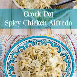 Crock Pot Spicy Chicken Alfredo.