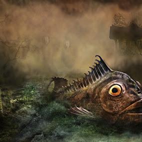 Toxic Fish by KT Allen - Digital Art Places ( acid, fish, toxic, digital manipulation, digital art, surreal, composite )