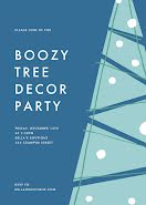 Boozy Tree Decor Party - Christmas Card item