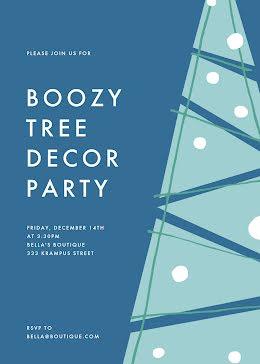 Boozy Tree Decor Party - Winter Holiday item