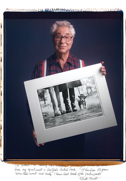 Photo: The picture I am holding was snapped in 1974 just across the street from my apartment in New York's Central Park.  It has been 38 years since that event and sadly I have lost track of the participants. - Elliot Erwitt