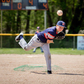Pitcher by Melissa LaGuire - Sports & Fitness Baseball ( sports, fastball, baseball, pitcher, youth )