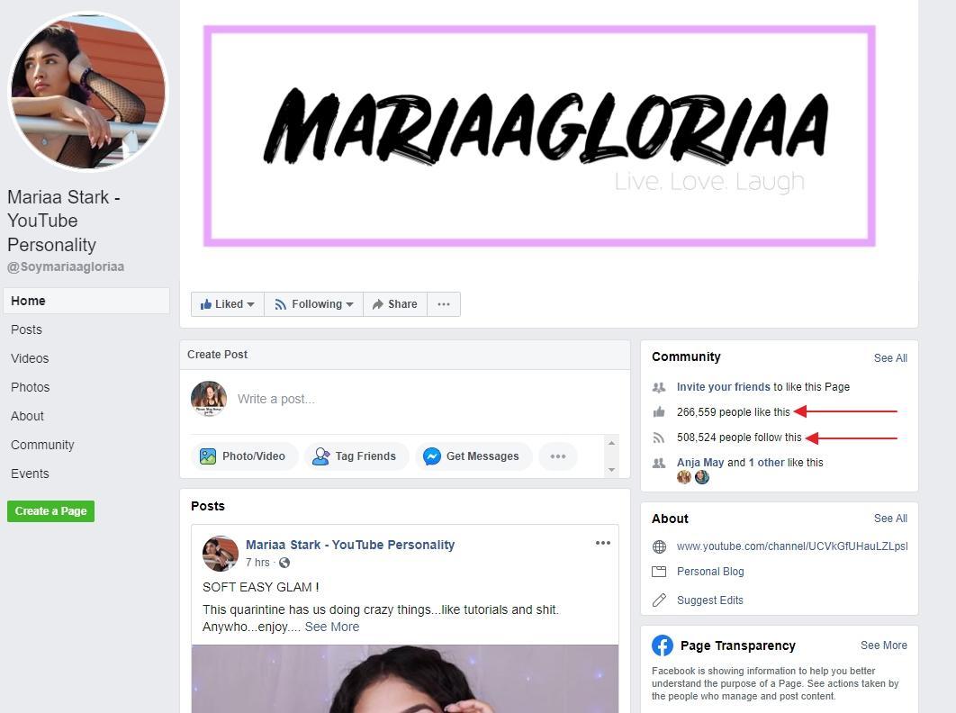 Maria Gloria Stark brand influencer