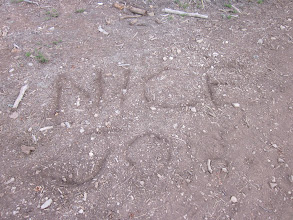 Photo: Nice job! (was written on the trail)