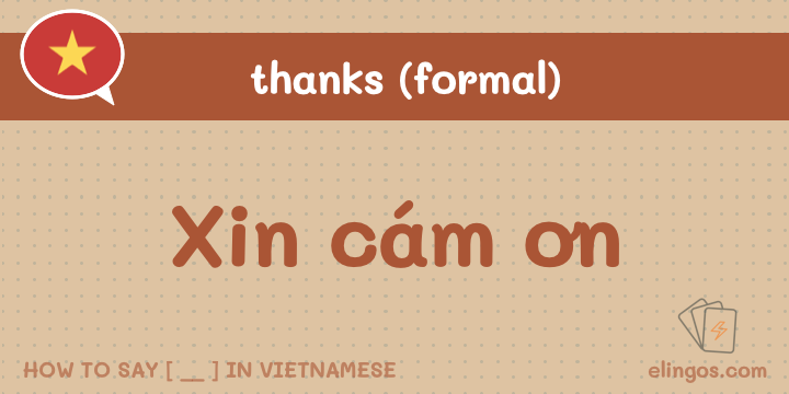 "Formal ""Thank you"" in Vietnamese"