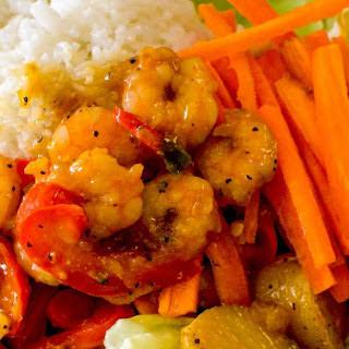 Asian Shrimp And Veggie Bowl
