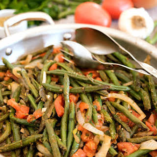 Green Beans with Tomatoes.