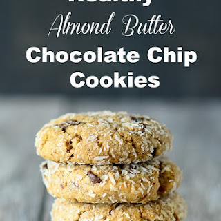 Healthy Almond Butter Chocolate Chip Cookies.