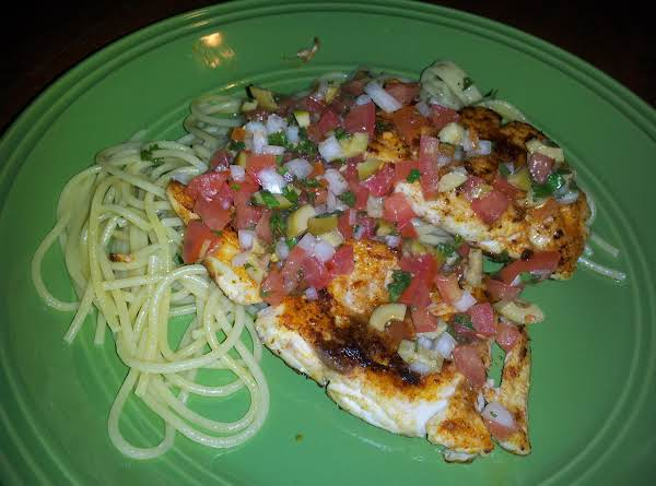 Blackened Red Snapper With Fresh Salsa