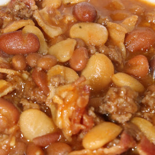Crock Pot Loaded Baked Beans Perfect For Tailgating!.