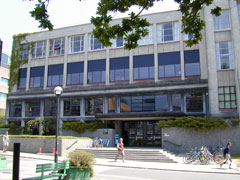 Photo: Leonard S. Klinck Building at UBC, aka New Applied Science Building, aka Engineering  Building, aka the Civil Engineering Building, and aka the Computer Science Building. Opened in 1948 its current name honours Dr. Leonard S. Klinck, the First Dean of Agriculture at UBC, and the university's second president.  Home to the UBC Computing Centre (4th floor to the right)