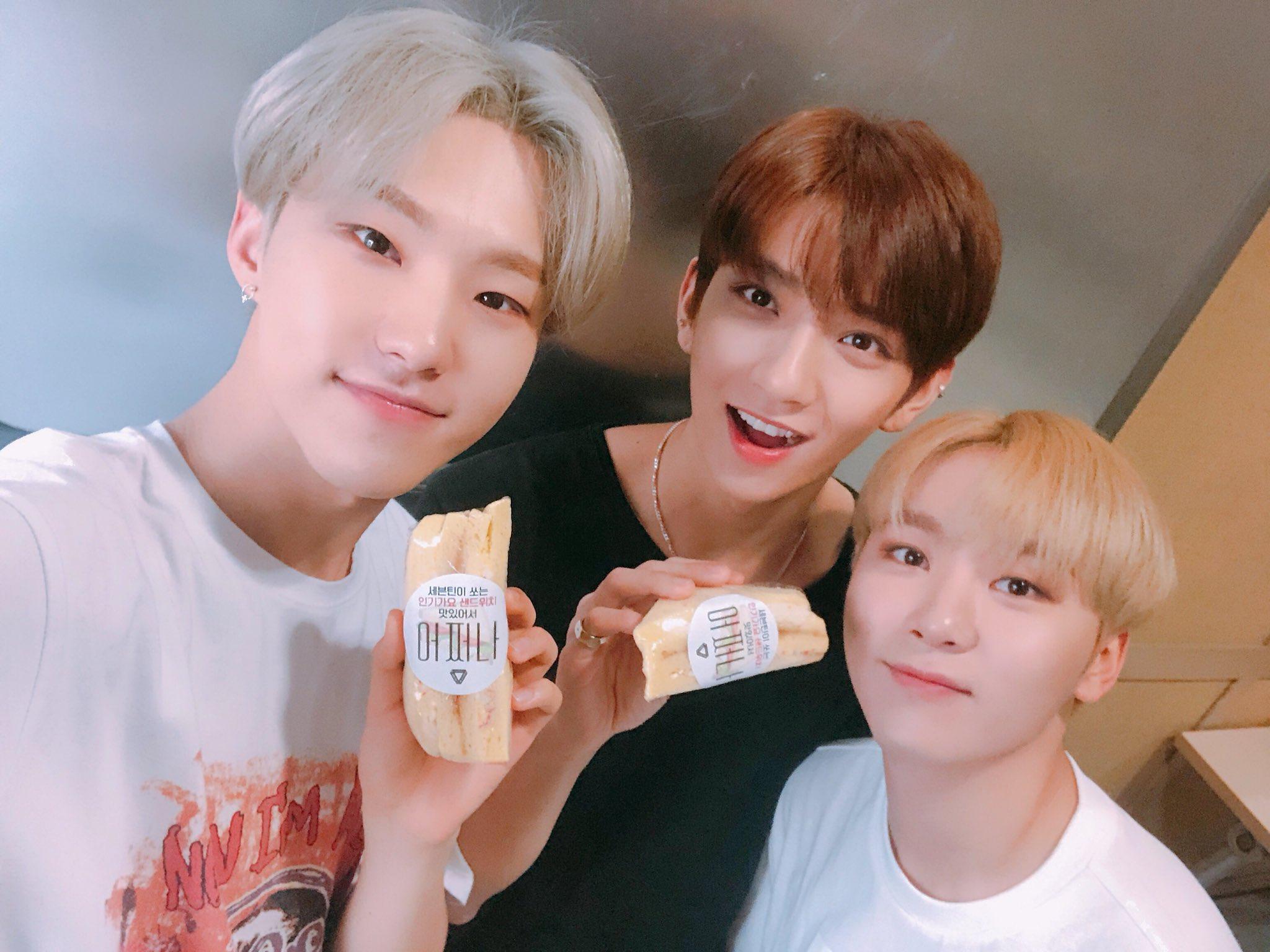 seventeen inkigayo sandwich @pledis_17 hoshi joshua seungkwan 2
