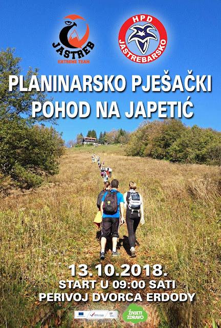 Planinarski uspon na Japetić iz Jaske, 13.10.2018.