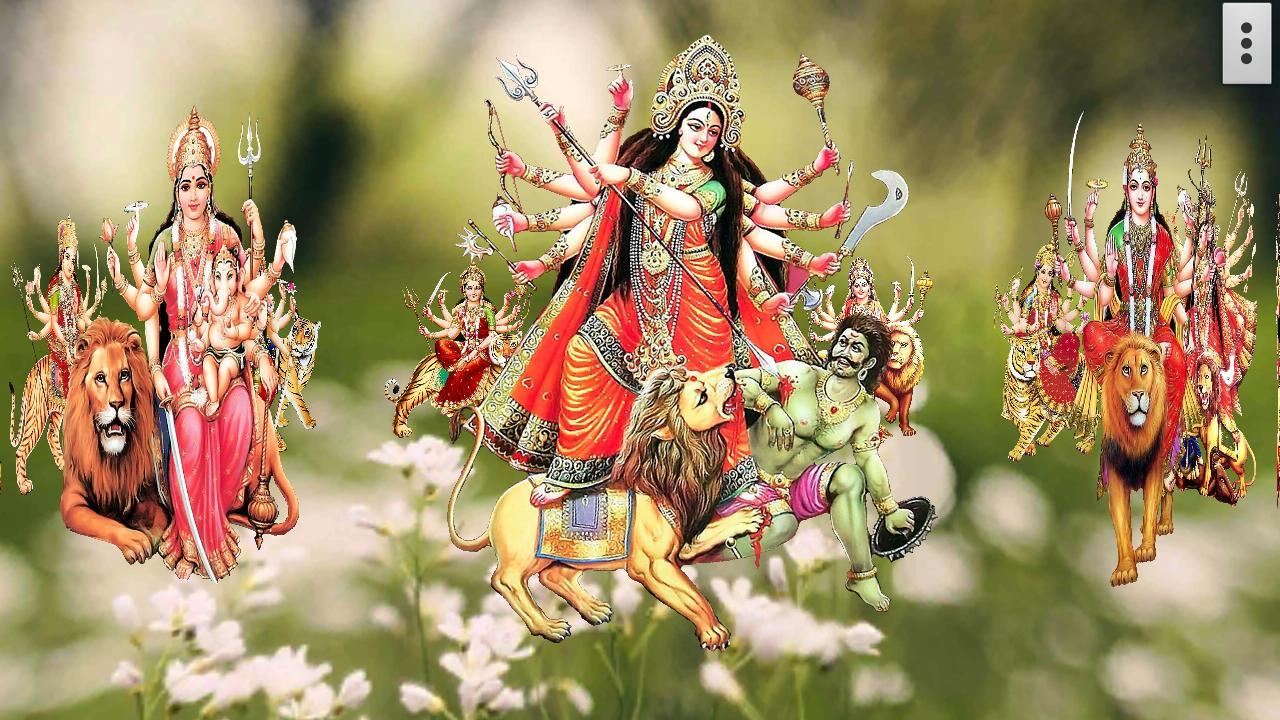 Jai Mata Di 3d Live Wallpaper 4d Maa Durga Live Wallpaper Android Apps On Google Play
