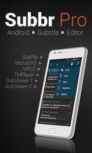 Subbr Pro: Subtitle Editor  screenshots 1