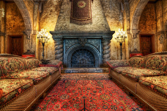 Photo: Hollywood Tower Hotel (or The Twilight Zone Tower of Terror)  A wonderful old, ornate fireplace... can anyone tell me where it is?  (people got it fast so I modified the title!)