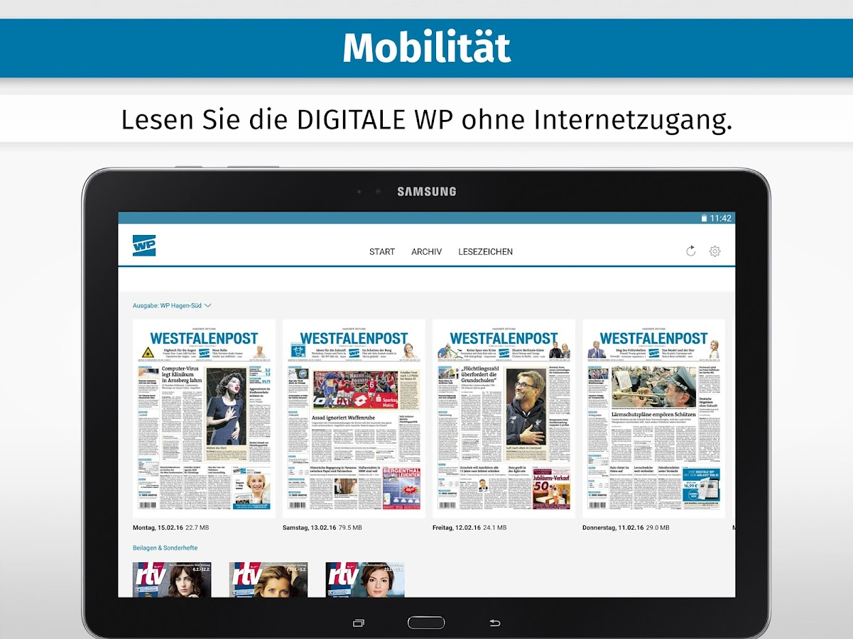 WP ZEITUNG DIGITAL- screenshot