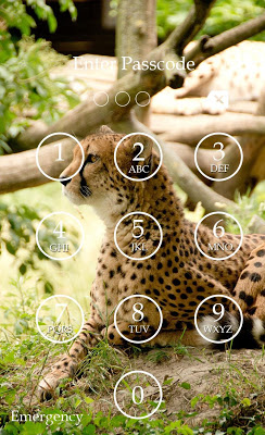 Cheetah Keypad Lock Screen - screenshot