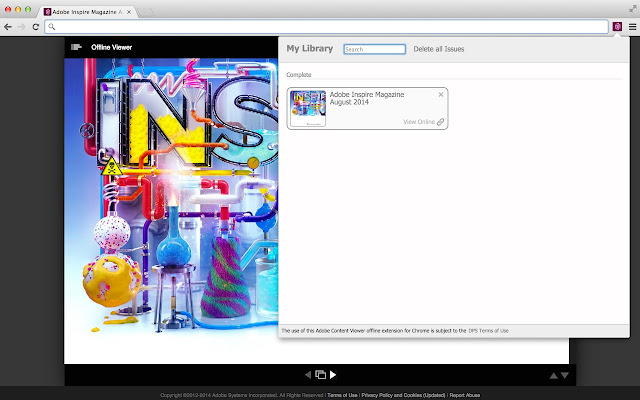 Adobe Content Viewer offline extension