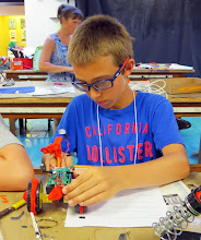 Photo: Student-made robots, from plan to reality