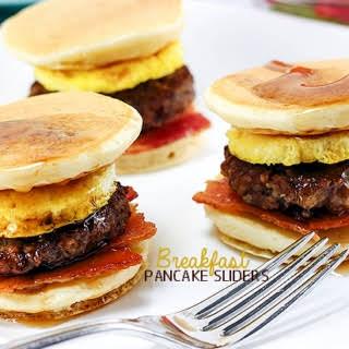 Breakfast Pancake Sliders.