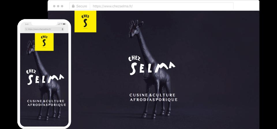 """Site internet créé par """"Chez Selma"""""""