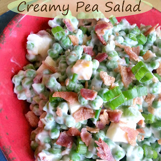 Simple & Creamy Pea Salad