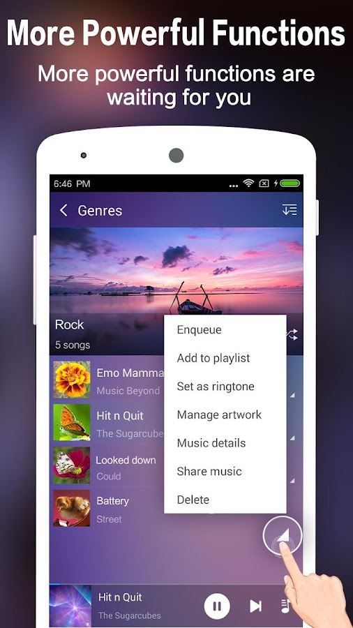 how to use google music player on android