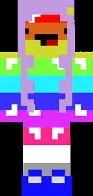 a girl rainbow blob