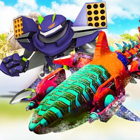 Robot Shark Attack 3D:Angry Shark Robot Games 2019