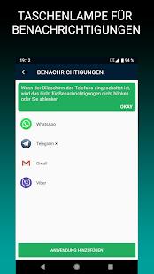 LED-Blitz als Anruf- oder SMS-Signal Screenshot