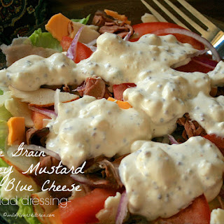 Chunky Whole Grain Honey Mustard & Blue Cheese Salad Dressing