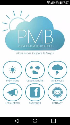 Prévisions Météo Belgique PMB