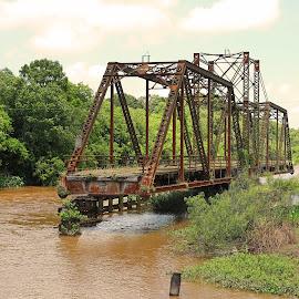Abondoned bridge by Ron Olivier - Transportation Roads ( abondoned bridge )