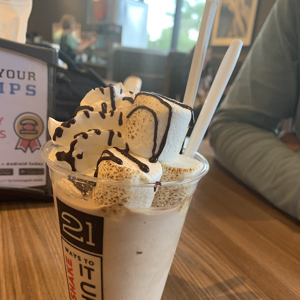 Stunning Milkshakes - many can be done GF this one a chocolate and Hazelnut. Fulfils the need for a delicious dessert so often missing for the Celiac!