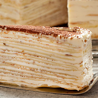 Mille-Crepe Tiramisu Birthday Cake Recipe