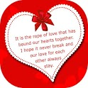 Love messages - Love images with proposal quotes icon