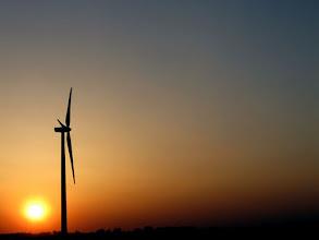 Photo: I-65 Wind Power at Sunset