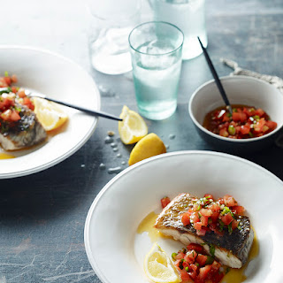 Pan-Fried fish with Pico de Gallo Salsa.