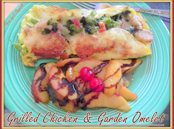 Grilled Chicken & Garden Omelet Recipe